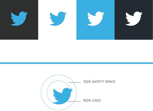 una identidad corporativa blucactus logo de twitter colores
