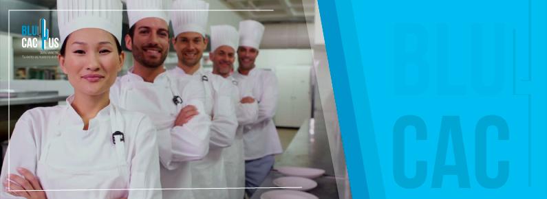 BluCactus - 5 chefs en uniforme con ganas de cocinar