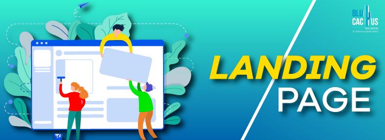 BluCactus 3 personas pequeñas arreglando una Landing Page gigante