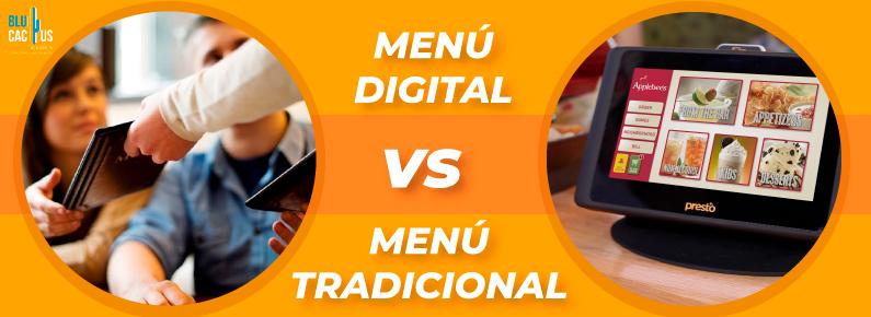 BluCactus Menu digital vs menu tradicional