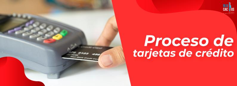 BluCactus - punto de venta procesando tarjeta de credito