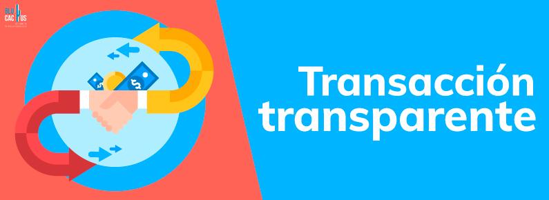 BluCactus punto de venta con transacción transparente