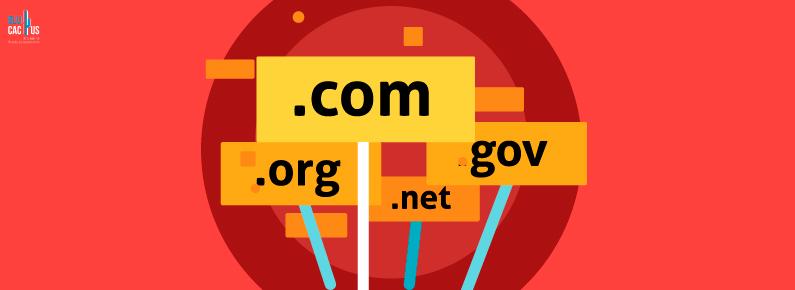 BluCactus Signales con los nombres del Top Level Domains mas comunes