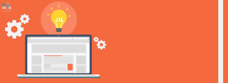 BluCactus - Cuanto cuesta una pagina web a la izquierda una pantalla con globo de ideas