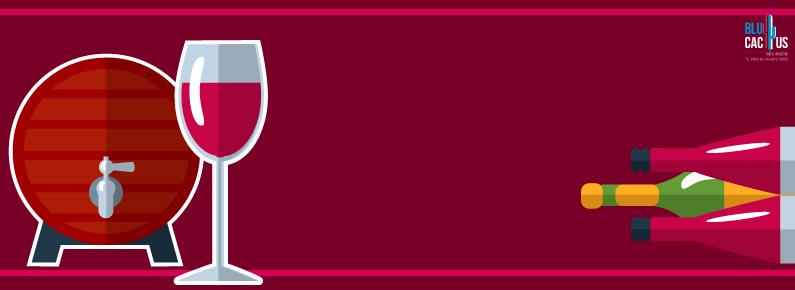 BluCactus barril de vino tinto con botellas de vino