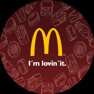 BluCactus McDonald's slogan logo